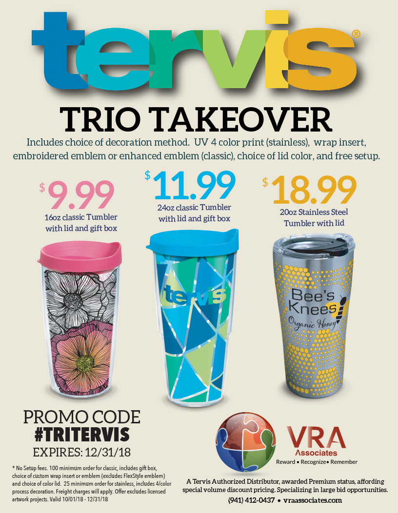 Try A Tervis Special Pricing Through The End Of The Year Vra